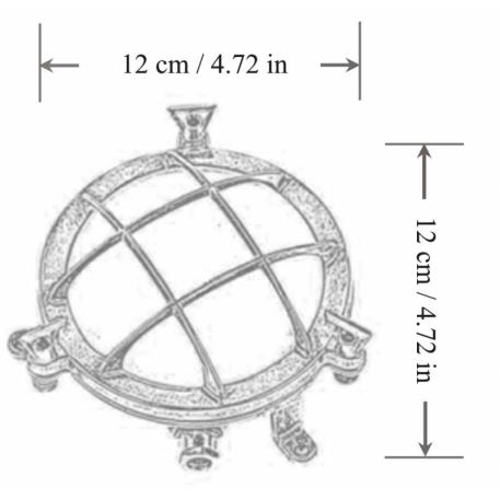 nautical brass bulkhead wall light