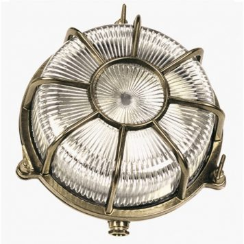 Ship lights. Brass nautical wall lighting fixtures