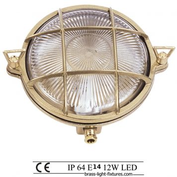 Beach style outdoor wall lights. Round rage light with screws.
