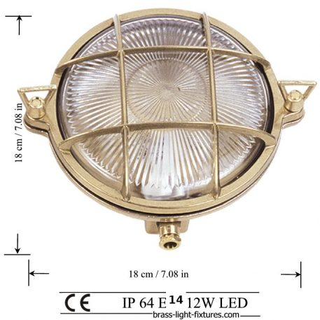 Outdoor nautical style lights.