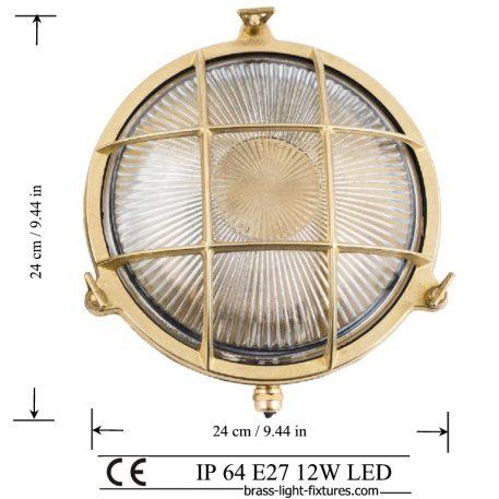 Brass Nautical Bulkhead Lamp