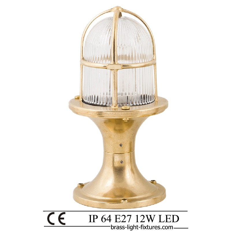 Lamp Post Light Fixtures Nautical Style Lights Art Br406 30 Brass 1x18w Ip64