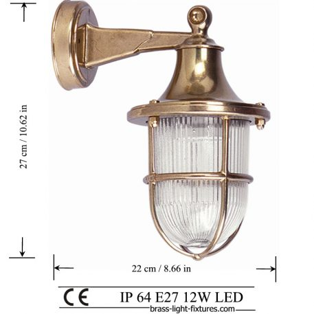 Brass wall sconce lamp light