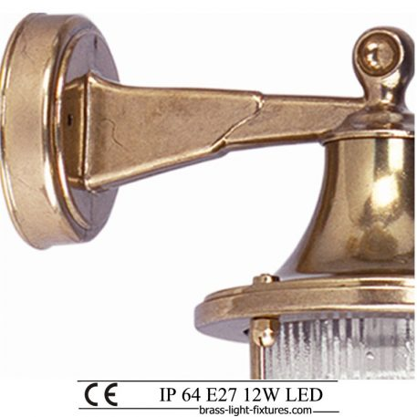 Traditional brass outdoor wall lights and sconces