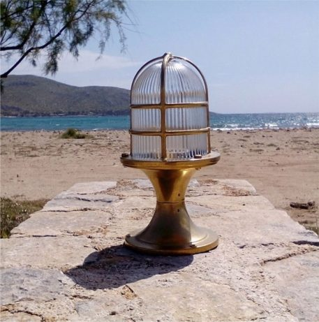 Nautical and marine style light. brass light fixtures