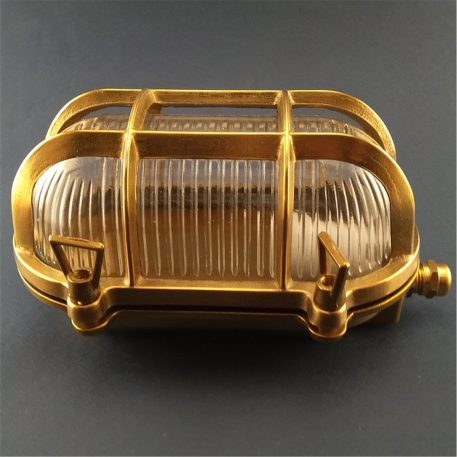 Brass ships oval bulkhead Light