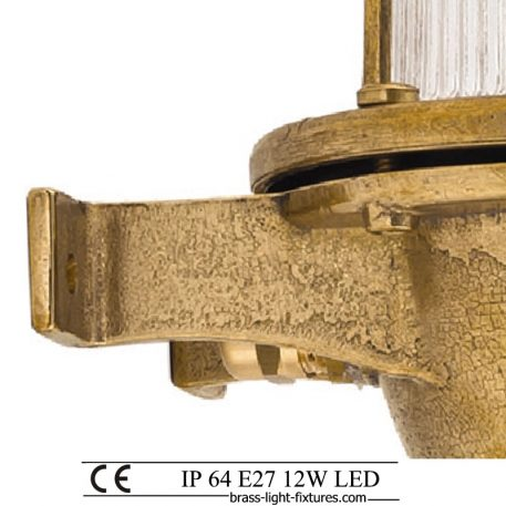 Coastal lighting. Made of brass. Outdoor wall light fixtures and outdoor sconces. outdoor led lights, garage, garden, patio
