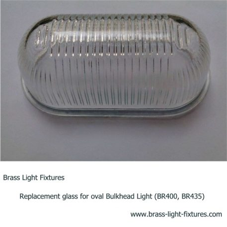 Replacement glass for oval Bulkhead Light (BR400, BR435)