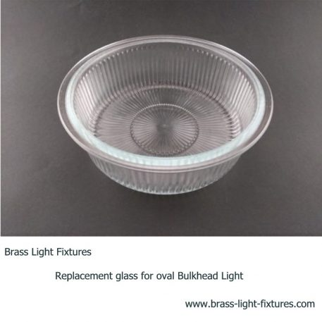 Replacement glass for round bulkhead light