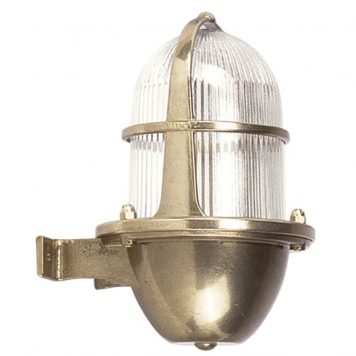 Outdoor lighting for coastal locations. Wall lights in brass-light-fixtures.com