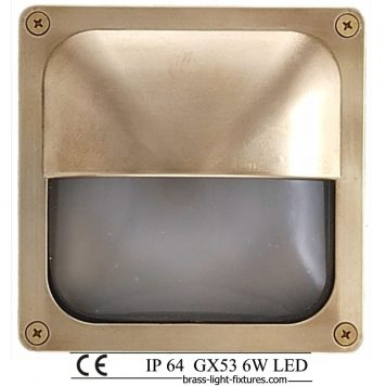 Walkway light. , Riser lights, stair light with anti glare pollution shield