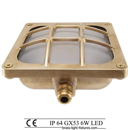 Square light. Exterior Recessed and Surface mount