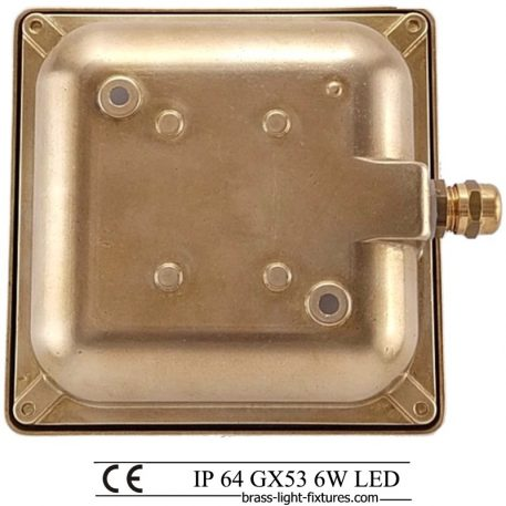 Square light. Wall Recessed Lighting