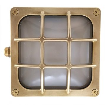 Square light. Wall light recessed or surface
