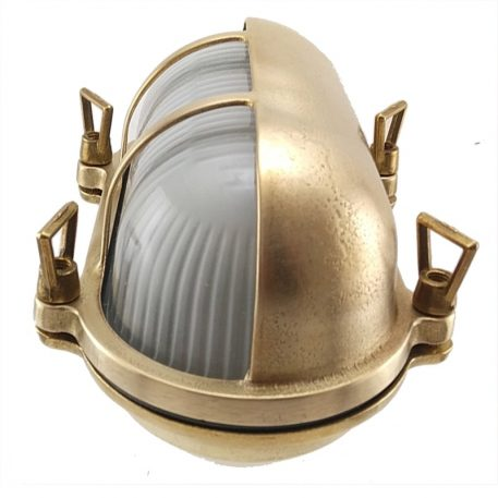Oval bulkhead light. Bronze outdoor lighting wall mount