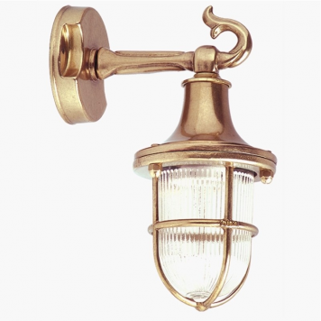 Brass wall sconce. Badrumsbelysning