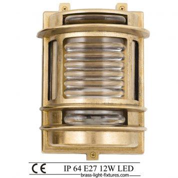 Exterior brass wall light. Outdoor nautical style lights