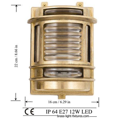 Outdoor nautical style lights Exterior brass wall light