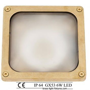 Square wall light