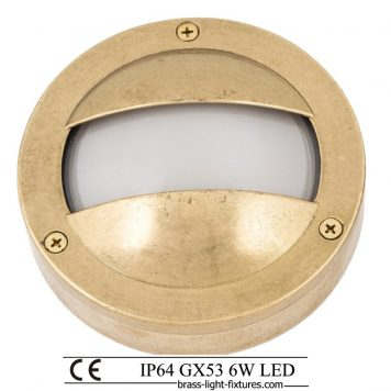 Exterior step lights in brass
