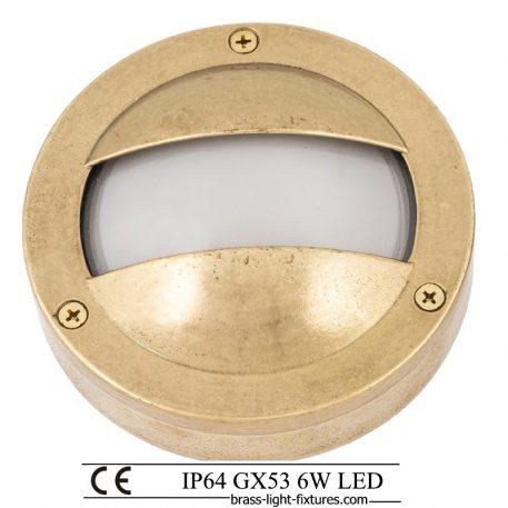 Exterior step lights in brass