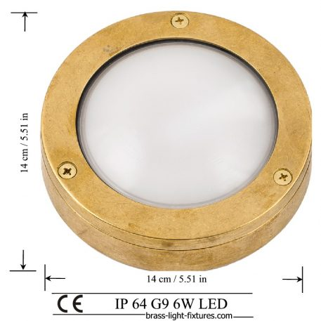 Round brass bulkhead