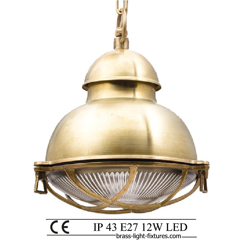 Industrial style pendant light.