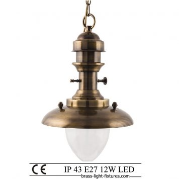 Antique brass pendant lighting