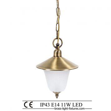 Single brass light. Lighting ideas for modern kitchens