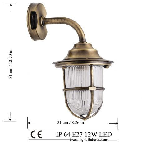 Wall sconces brass antique.