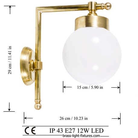 Modern brass wall sconce