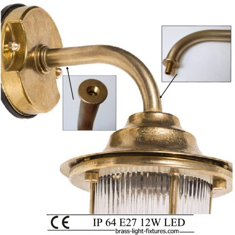 Nautical Style Wall Sconces Lighting. Made of Brass in brass finish. ART BR4201 Brass