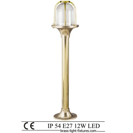 Outdoor Column Lights. Made of Brass in brass finish. ART BR420-88 Brass