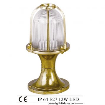 Garden Lamp Post. Made of Brass in brass finish. ART BR420KK-28 Brass