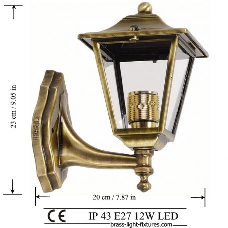 Antique Wall Lights, Made of Brass in brass antique finish. ART BR484A Brass antique