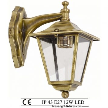 Antique Brass Wall Lights 484K
