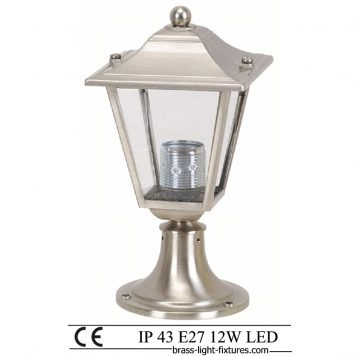 Column Mount Lights. Made of Brass in nickel mat finish. ART BR484KK-25 Nickel Mat
