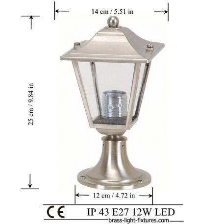 Column Mount Lights. Made of Brass in nickel mat finish. ART BR484KK-25 Nickel Mat