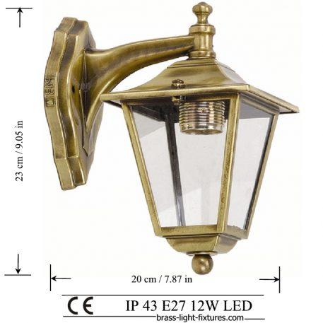 Antique Brass Wall Lights 484K