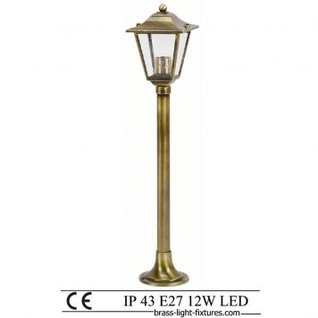 Column Lights. Made of Brass in brass antique finish
