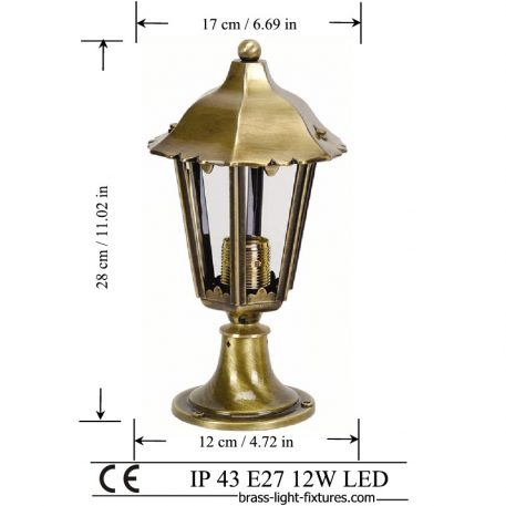 British light classic. Made of Brass in brass antique finish. ART BR488KK-28 Brass antique