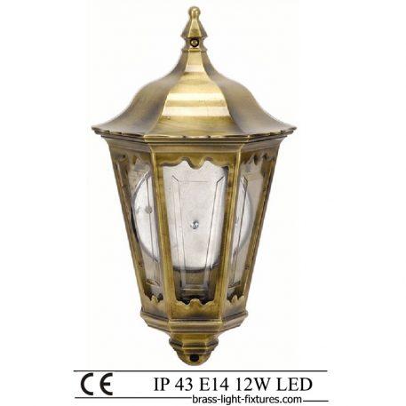 Brass Half Lantern. Made of Brass in brass antique finish. ART BR491 Brass antique