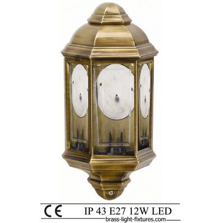 Porch Wall Lantern. Made of Brass in brass antique finish. ART BR492 Brass antique