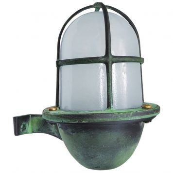 Nautical Style Outdoor Lighting. Made of Brass in aged, patina finish.