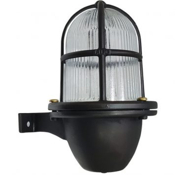Nautical Style Exterior Wall Light in a Black Hard oxidized Finish. ART BR408BRBOX
