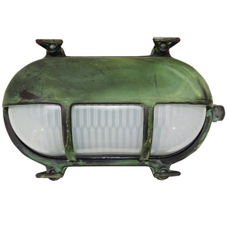 Coastal Style Outdoor Lighting. Made of Brass in aged, patina finish.