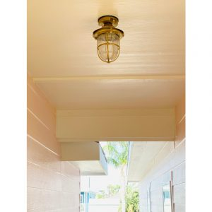 Nautical Ceiling Light. Brass wall light fixtures. ART BR4069 Brass. Photo by Heather, Port Aransas Texas, United States.